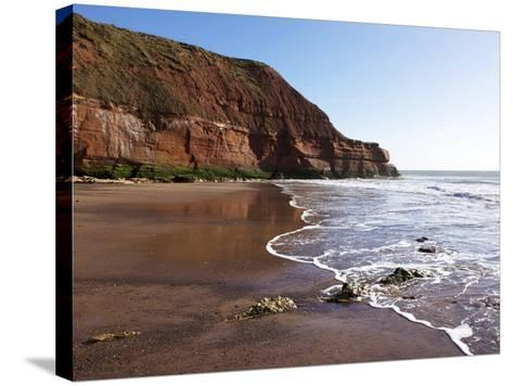 Exmouth Cliffs, Exmouth, Devon, England, United Kingdom, Europe-Jeremy Lightfoot-Stretched Canvas Print