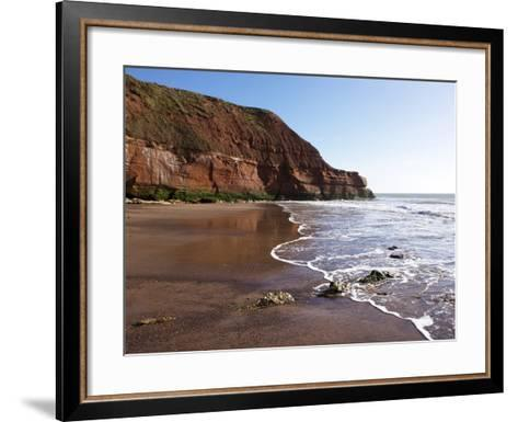 Exmouth Cliffs, Exmouth, Devon, England, United Kingdom, Europe-Jeremy Lightfoot-Framed Art Print