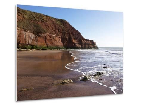 Exmouth Cliffs, Exmouth, Devon, England, United Kingdom, Europe-Jeremy Lightfoot-Metal Print