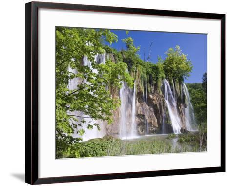 Veliki Prstavac Falls, Plitvice Lakes National Park (Plitvicka Jezera), Lika-Senj County, Croatia-Ruth Tomlinson-Framed Art Print