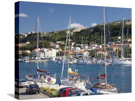 Yachts Moored in the Harbour, Rab Town, Island of Rab, Primorje-Gorski Kotar, Croatia, Europe-Ruth Tomlinson-Stretched Canvas Print