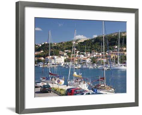 Yachts Moored in the Harbour, Rab Town, Island of Rab, Primorje-Gorski Kotar, Croatia, Europe-Ruth Tomlinson-Framed Art Print