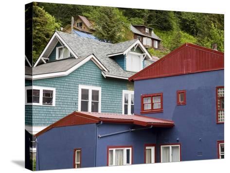 Houses in Juneau, Southeast Alaska, USA-Richard Cummins-Stretched Canvas Print