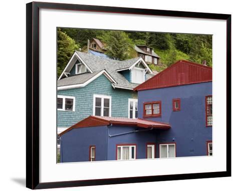 Houses in Juneau, Southeast Alaska, USA-Richard Cummins-Framed Art Print