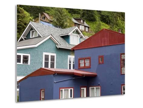 Houses in Juneau, Southeast Alaska, USA-Richard Cummins-Metal Print