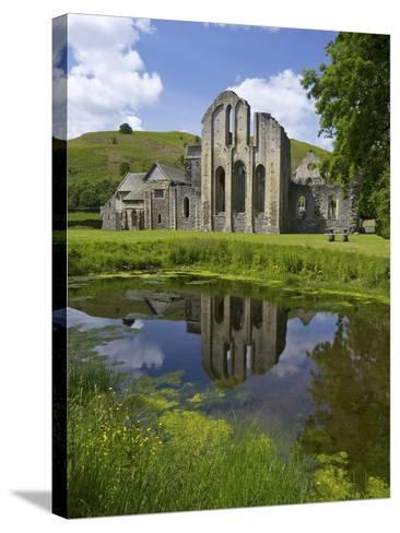 Valle Crucis, Ruined Cistercian Abbey, in Llantysilio, Near Llangollen, Denbighshire, Wales, Uk-Peter Barritt-Stretched Canvas Print