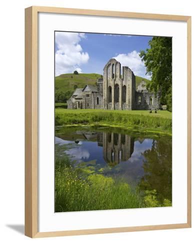 Valle Crucis, Ruined Cistercian Abbey, in Llantysilio, Near Llangollen, Denbighshire, Wales, Uk-Peter Barritt-Framed Art Print