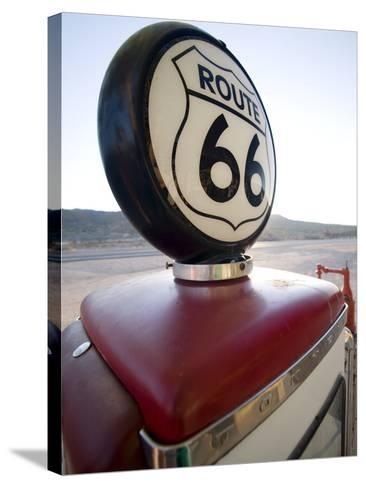 Gas Pump, Historic Route 66, Arizona, United States of America, North America-Colin Brynn-Stretched Canvas Print