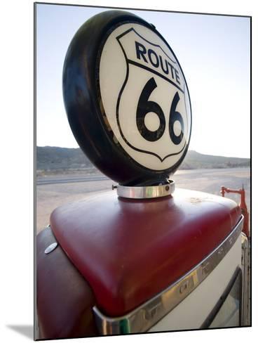 Gas Pump, Historic Route 66, Arizona, United States of America, North America-Colin Brynn-Mounted Photographic Print