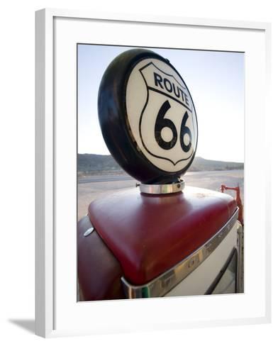 Gas Pump, Historic Route 66, Arizona, United States of America, North America-Colin Brynn-Framed Art Print