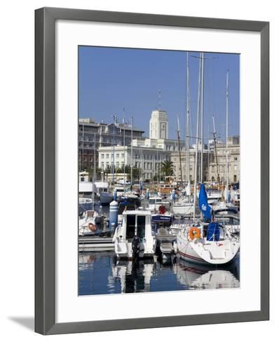 Yachts in Darsena Marina, La Coruna, Galicia, Spain, Europe-Richard Cummins-Framed Art Print