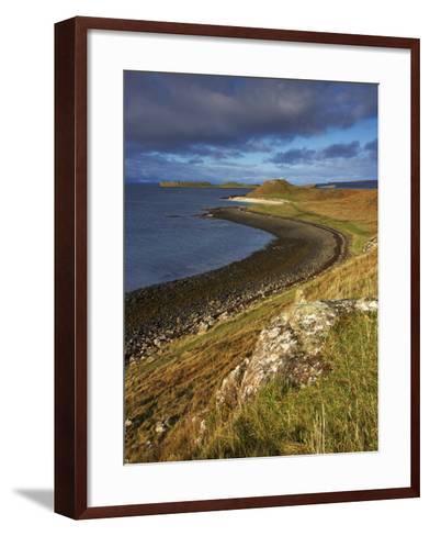 A View Towards the Coral Beaches Near Dunvegan, Isle of Skye, Scotland, United Kingdom, Europe-Jon Gibbs-Framed Art Print
