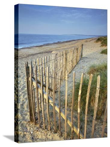 A Summer Morning on the Beach at Walberswick, Suffolk, England, United Kingdom, Europe-Jon Gibbs-Stretched Canvas Print