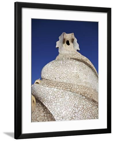 Casa Mila, Barcelona, Catalonia, Spain, Europe-Mark Mawson-Framed Art Print