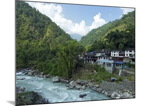 Birethanti Village, and Modi River Valley, Annapurna Sanctuary Region, Himalayas, Nepal, Asia-Peter Barritt-Mounted Photographic Print