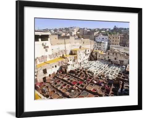 Tannery, Fez, UNESCO World Heritage Site, Morocco, North Africa, Africa-Marco Cristofori-Framed Art Print