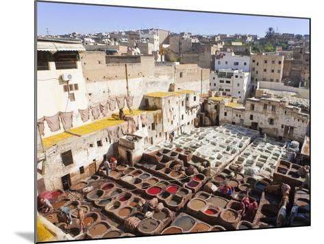 Tannery, Fez, UNESCO World Heritage Site, Morocco, North Africa, Africa-Marco Cristofori-Mounted Photographic Print