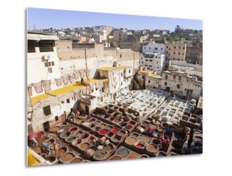 Tannery, Fez, UNESCO World Heritage Site, Morocco, North Africa, Africa-Marco Cristofori-Metal Print