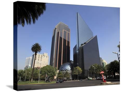 Mexican Stock Exchange Building, Centro Bursatil, Paseo De La Reforma, Reforma, Mexico City, Mexico-Wendy Connett-Stretched Canvas Print