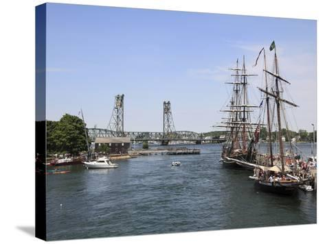 Tall Ships, Portsmouth, New Hampshire, New England, United States of America, North America-Wendy Connett-Stretched Canvas Print