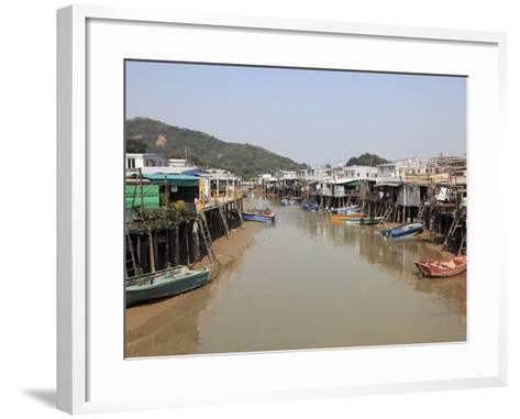 Stilt Houses, Tai O Fishing Village, Lantau Island, Hong Kong, China, Asia-Wendy Connett-Framed Art Print