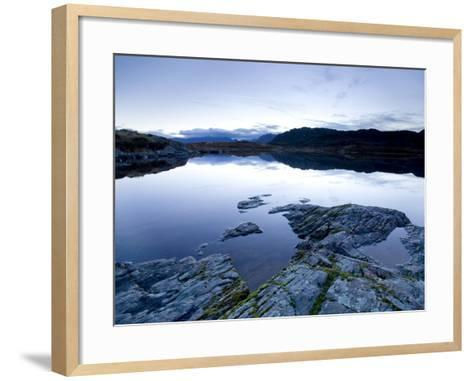 Loch Tollaidh at Dawn, Near Poolewe, Achnasheen, Wester Ross, Highlands, Scotland, United Kingdom-Lee Frost-Framed Art Print