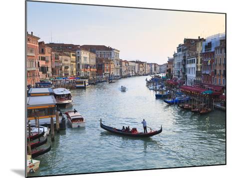 A Gondola Crossing the Grand Canal, Venice, UNESCO World Heritage Site, Veneto, Italy, Europe-Amanda Hall-Mounted Photographic Print