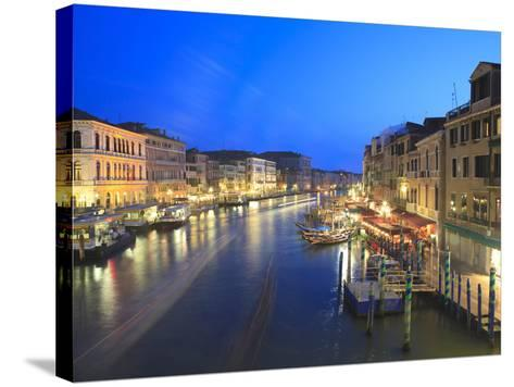 Grand Canal at Dusk, Venice, UNESCO World Heritage Site, Veneto, Italy, Europe-Amanda Hall-Stretched Canvas Print