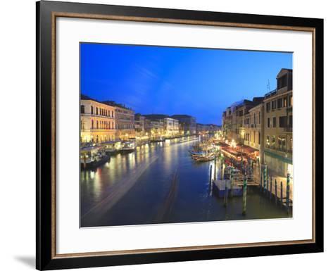 Grand Canal at Dusk, Venice, UNESCO World Heritage Site, Veneto, Italy, Europe-Amanda Hall-Framed Art Print