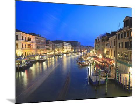 Grand Canal at Dusk, Venice, UNESCO World Heritage Site, Veneto, Italy, Europe-Amanda Hall-Mounted Photographic Print
