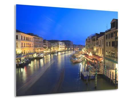 Grand Canal at Dusk, Venice, UNESCO World Heritage Site, Veneto, Italy, Europe-Amanda Hall-Metal Print