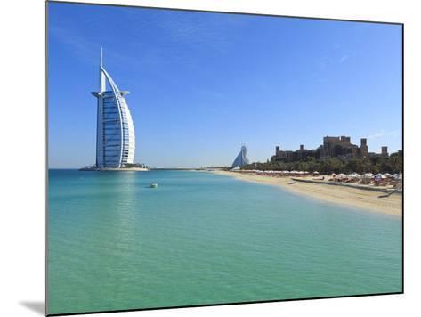 Burj Al Arab Hotel, Jumeirah Beach, Dubai, United Arab Emirates, Middle East-Amanda Hall-Mounted Photographic Print