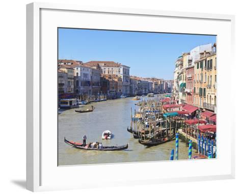 Grand Canal, Venice, UNESCO World Heritage Site, Veneto, Italy, Europe-Amanda Hall-Framed Art Print