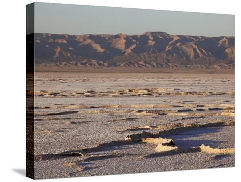 Chott El Jerid, Flat Dry Salt Lake Between Tozeur and Kebili, Tunisia, North Africa, Africa-Dallas & John Heaton-Stretched Canvas Print