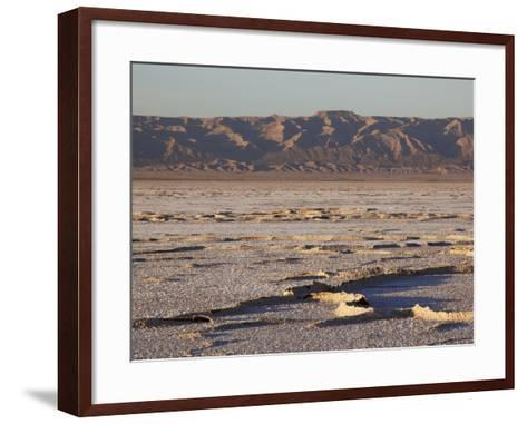 Chott El Jerid, Flat Dry Salt Lake Between Tozeur and Kebili, Tunisia, North Africa, Africa-Dallas & John Heaton-Framed Art Print