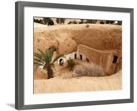 Troglodyte Pit Home, Berber Underground Dwellings, Matmata, Tunisia, North Africa, Africa-Dallas & John Heaton-Framed Art Print