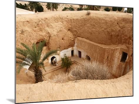 Troglodyte Pit Home, Berber Underground Dwellings, Matmata, Tunisia, North Africa, Africa-Dallas & John Heaton-Mounted Photographic Print