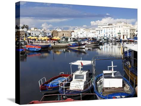 Old Port Canal and Fishing Boats, Bizerte, Tunisia, North Africa, Africa-Dallas & John Heaton-Stretched Canvas Print