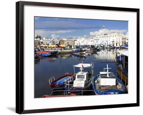 Old Port Canal and Fishing Boats, Bizerte, Tunisia, North Africa, Africa-Dallas & John Heaton-Framed Art Print