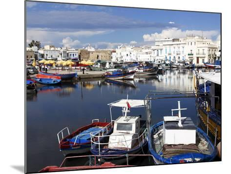 Old Port Canal and Fishing Boats, Bizerte, Tunisia, North Africa, Africa-Dallas & John Heaton-Mounted Photographic Print