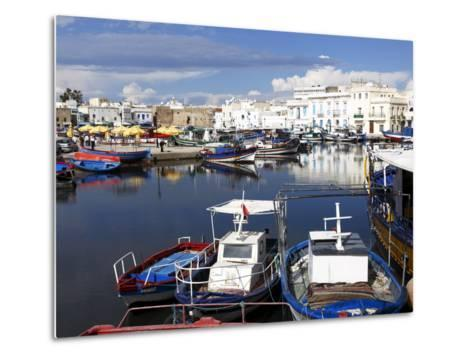 Old Port Canal and Fishing Boats, Bizerte, Tunisia, North Africa, Africa-Dallas & John Heaton-Metal Print