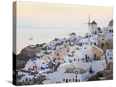 Village of Oia, Santorini (Thira), Cyclades Islands, Aegean Sea, Greek Islands, Greece, Europe-Gavin Hellier-Stretched Canvas Print