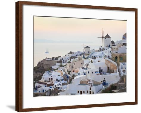 Village of Oia, Santorini (Thira), Cyclades Islands, Aegean Sea, Greek Islands, Greece, Europe-Gavin Hellier-Framed Art Print