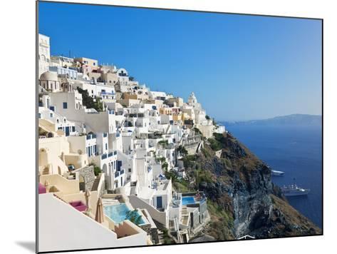 Elevated View of Fira, Santorini (Thira), Cyclades Islands, Aegean Sea, Greek Islands, Greece-Gavin Hellier-Mounted Photographic Print