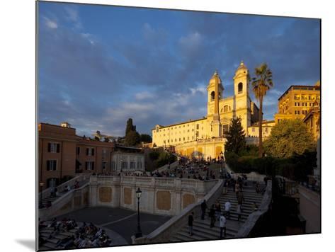 Trinita Dei Monti Church, Piazza Di Spagna, Spanish Steps, Rome, Italy, Europe-John Miller-Mounted Photographic Print