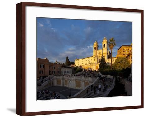 Trinita Dei Monti Church, Piazza Di Spagna, Spanish Steps, Rome, Italy, Europe-John Miller-Framed Art Print