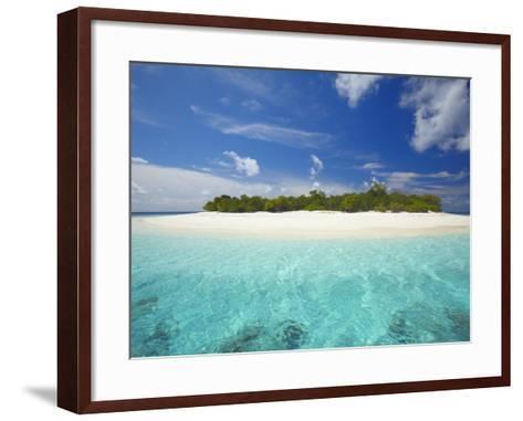 Uninhabited Island, Maldives, Indian Ocean, Asia-Sakis Papadopoulos-Framed Art Print