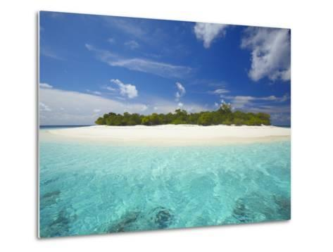 Uninhabited Island, Maldives, Indian Ocean, Asia-Sakis Papadopoulos-Metal Print