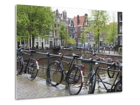Bicycle, Brouwersgracht, Amsterdam, Netherlands, Europe-Amanda Hall-Metal Print