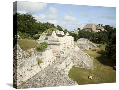 The Twin Pyramids, Mayan Ruins, Ek Balam, Yucatan, Mexico, North America-Balan Madhavan-Stretched Canvas Print